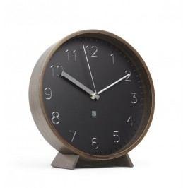 Nástěnné nebo stolní hodiny Umbra RIMWOOD - ořechové/černé