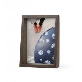 Rámeček na fotografii 14x19 cm Umbra EDGE - hnědý Rámečky na fotky
