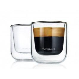 Termosklenička na espresso Blomus NERO, 2 ks