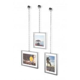 Fotorámečky na zeď Umbra FOTOCHAIN, 3 ks - stříbrné