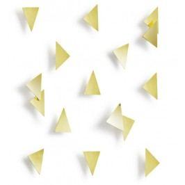 Dekorace na zeď Umbra CONFETTI TRIANGLES - zlatá