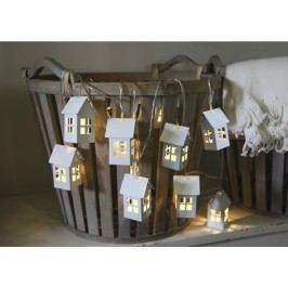 Světelný řetěz s domečky STAR TRADING Houses - bílý