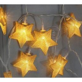 Světelný řetěz s LED osvětlením STAR TRADING Star - zlatý