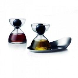 Menu Skleněná pipeta na olej  a ocet, set 2 ks s táckem