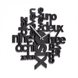 Umbra Nástěnné hodiny Lingua, černé