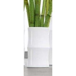 Váza BAMBOO ASA Selection bílá, 24 cm Dekorativní vázy