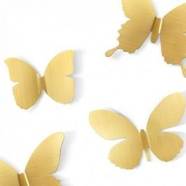 Nástěnná dekorace Umbra Metal Mariposa 9 ks - zlatá