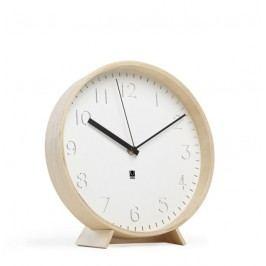 Nástěnné nebo stolní hodiny Umbra RIMWOOD - bílé/přírodní