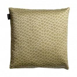 Povlak na polštář 50x50 cm LINUM Ascoli - zelenohnědý
