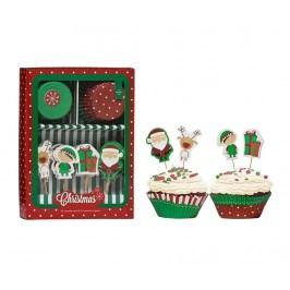 Sada na pečení muffinů, 48 dílů Party Cupcakes Christmas