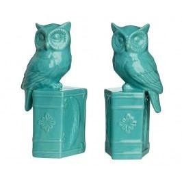 Sada 2 zarážek na knihy Owls