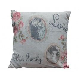 Dekorační polštář Love Our Family 40x40 cm