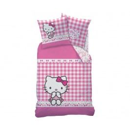Ložní povlečení Single Ranforce Hello Kitty Vichy