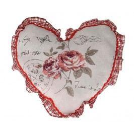 Dekorační polštář Soft Roses Heart 38x38 cm