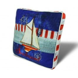 Polštář na sezení Love Sailing 42x42 cm