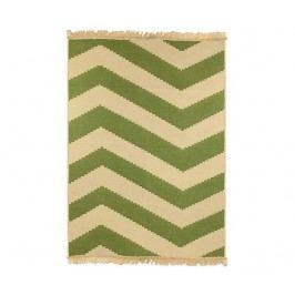 Kobereček Zigzag Green 60x90 cm