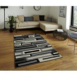 Koberec Collision Black Grey 160x220 cm