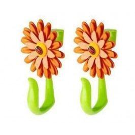 Sada 2 věšáků na dveře Flower Power Hook Orange