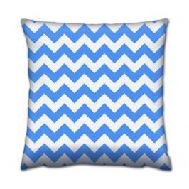 Dekorační polštář Blue Zig Zag 43x43 cm