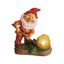 Solární lampa Gnome with Rock Solární lampy do zahrady