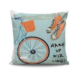 Dekorační polštář Wake Up For Life 45x45 cm