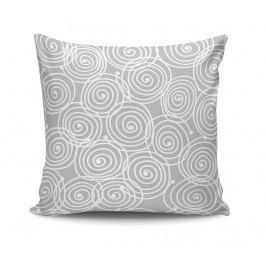 Dekorační polštář Cercles Grey 45x45 cm