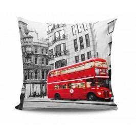 Dekorační polštář London Red Bus 45x45 cm