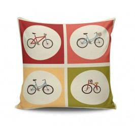 Dekorační polštář Retro Bicycles 45x45 cm