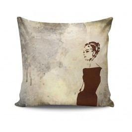 Dekorační polštář Retro Woman 45x45 cm