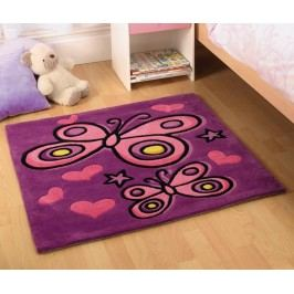 Koberec Butterfly Purple 90x90 cm