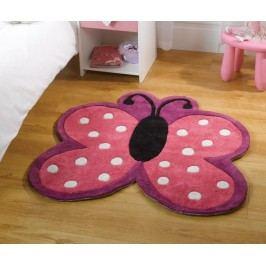 Koberec Polka Butterfly 90x90 cm Dětské kusové koberce