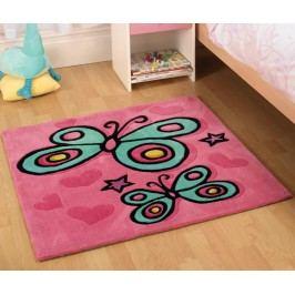 Koberec Butterfly Pink 90x90 cm