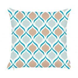 Povlak na polštář Abstract Petals Blue Brown 43x43 cm