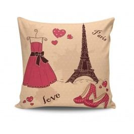 Dekorační polštář Paris Fashion 45x45 cm