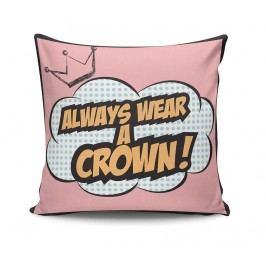 Dekorační polštář Wear a Crown 45x45 cm