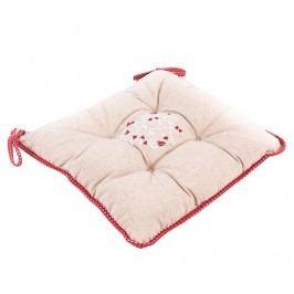 Sedací polštář Lovely Heart Red 40x40 cm