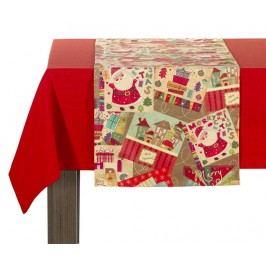 Středový ubrus Christmas Scrapbook 40x140 cm
