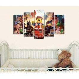 Sada 5 obrazů Lego
