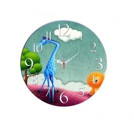 Nástěnné hodiny Blue Giraffe