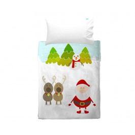 Sada prostěradlo do postýlky a povlak na polštář Christmas Extra Uni