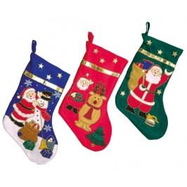 Sada 3 dekoračních ponožek St. Nicholas' Boots