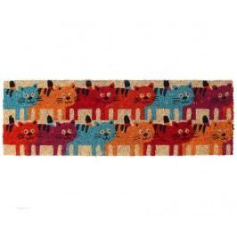 Vchodová rohožka Colorful Cats 25x75 cm