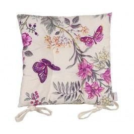 Polštář na sezení Purple Butterfly 41x41 cm