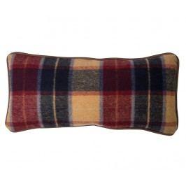 Dekorační polštář Maroon Check 20x45 cm