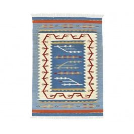 Koberec Kilim Blue and Red 75x125 cm