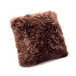 Dekorační polštář Fluffy Brown 45x45 cm