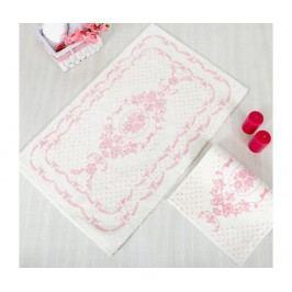 Koupelnová předložka Blenda Ecru Pink 70x120 cm
