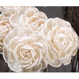 Sada 12 umělých květin Rosa