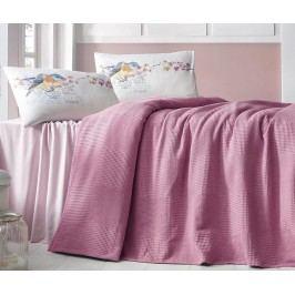 Přehoz Square Pink 230x240 cm