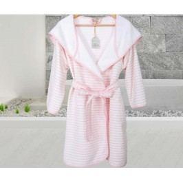 Dámský župan Stripes SPA Pink L/XL Doplňky a dekorace do koupelny